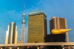 Tokyo Sky tree and Azumabashi Riverside Stock Images