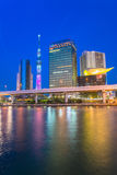 Tokyo Sky tree and Azumabashi Riverside Royalty Free Stock Photo
