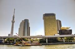 Tokyo Sky tree and Azumabashi Riverside Stock Photography