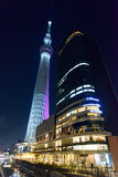 Tokyo Sky Tree at dusk royalty free stock photos