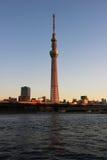 Tokyo Sky Tree at sunset Stock Image