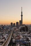 Tokyo Skyline at Asakusa Royalty Free Stock Photos