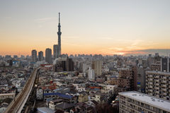 Tokyo Skyline at Asakusa Stock Photo