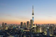 Tokyo Skyline at Asakusa Royalty Free Stock Photography