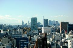 Tokyo Skyline with copy space. A landscape view of Metropolitan Tokyo, Japan Stock Image