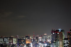 Tokyo skyline with copy space Royalty Free Stock Photography