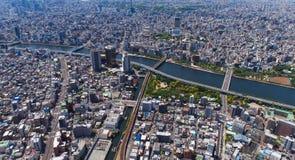 Tokyo skyline at daytime Royalty Free Stock Photo