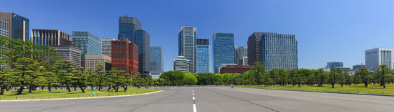 Tokyo skyline at daytime Royalty Free Stock Images