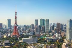 Tokyo-Skyline Japan Stockfotografie