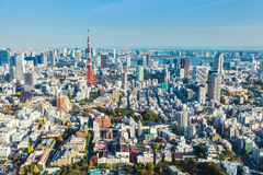 Tokyo skyline in Japan Royalty Free Stock Photo