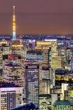 Tokyo skyline,  Japan. Royalty Free Stock Images