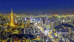 Tokyo Skyline from Mori Tower. Royalty Free Stock Images
