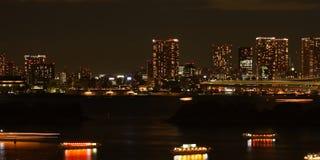Tokyo-Skyline nachts Lizenzfreie Stockfotos