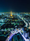 Tokyo skyline at night Royalty Free Stock Image