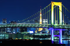 Tokyo skyline at night Stock Images