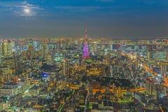 Tokyo skyline  at night Royalty Free Stock Photos