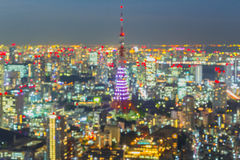 Tokyo skyline  at night Royalty Free Stock Image