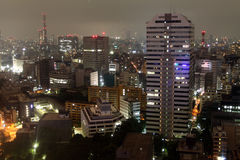 Tokyo skyline at night Royalty Free Stock Images