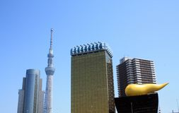Tokyo Skyline in the spring with blue skies Stock Image