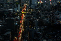 Tokyo skyline and streets Royalty Free Stock Photo