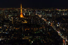 Tokyo skyline and streets Royalty Free Stock Image