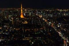 Tokyo-Skyline und -straßen Lizenzfreies Stockbild