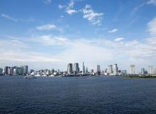 Tokyo skyline view from Odaiba Stock Photo