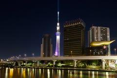 Tokyo-Skylinenacht Stockfotos