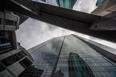 Tokyo skyscraper up high stock photography