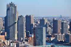 Tokyo skyscrapers Royalty Free Stock Image
