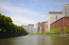 Tokyo skyskrapor Arkivbild