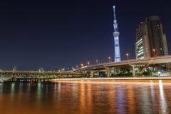 Tokyo-skytree nachts Stockfoto