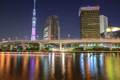 Tokyo skytree at night Stock Photography