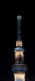 Tokyo skytree på natten Royaltyfri Foto