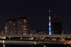 Tokyo Skytree seen from Odaiba. Royalty Free Stock Photos