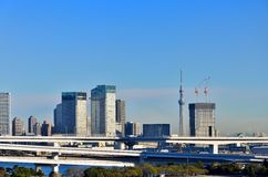 Tokyo Skytree seen from Odaiba. Stock Image