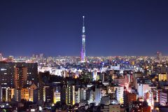 Tokyo Skytree and Skyline Stock Photography