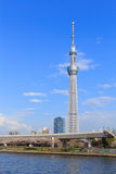 Tokyo Skytree and Sumida river in Tokyo Stock Image