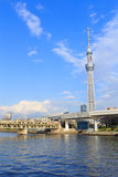 Tokyo Skytree and Sumida river in Tokyo Royalty Free Stock Photography