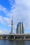 Tokyo Skytree and Sumida river in Tokyo Royalty Free Stock Photo