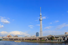 Tokyo Skytree and Sumida river in Tokyo Royalty Free Stock Image
