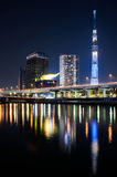 Tokyo Skytree Tower in the night Stock Image