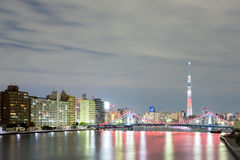 Tokyo skytree Tower at night Royalty Free Stock Image