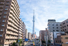Tokyo Skytree from the view in downtown Royalty Free Stock Images