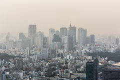Tokyo smog Royaltyfri Fotografi
