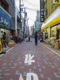 Tokyo som shoppar gatan Arkivbild