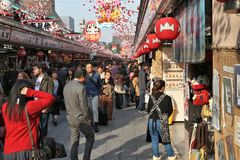 Tokyo souvenir shops Stock Photography