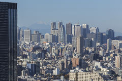 Tokyo stad, Japan Arkivfoto