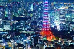 Tokyo stadshorisont royaltyfri foto