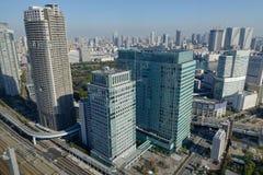 Tokyo stadshorisont Fotografering för Bildbyråer